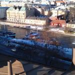 Keväistä Turkua katolta katsottuna